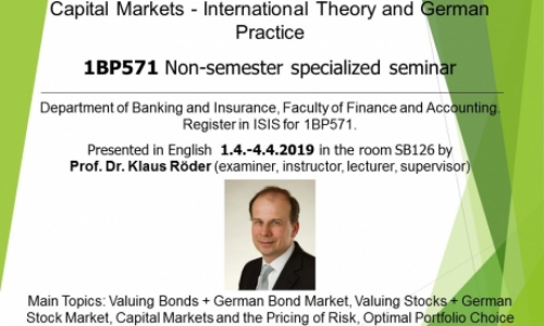 Seminar: Capital Markets – International Theory and German Practice (1BP571)